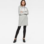 G-Star RAW® Scolla Oversized Hooded Sweat Dress Grey model front