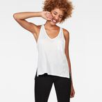 G-Star RAW® Dyv Pocket Straight Deep V-Neck Singlet White model front