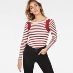 G-Star RAW® Zovas Slim Boatneck Red model front