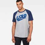 G-Star RAW® Buckston Raglan T-Shirt Grey model front