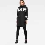 G-Star RAW® Scolla Oversized Hooded Sweat Dress Black model front