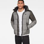 G-Star RAW® Whistler Hooded Quilted Jacket Grey model front