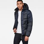 G-Star RAW® Whistler Hooded Quilted Jacket Dark blue model front
