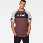 G-Star RAW® Beatal Loose Raglan T-Shirt Purple model front
