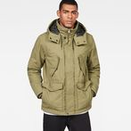 G-Star RAW® Vodan Padded Hooded Jacket Green model front