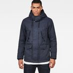 G-Star RAW® Vodan Padded Hooded Jacket Dark blue model front