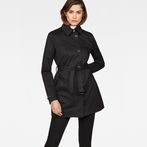 G-Star RAW® Minor Slim Trench Black model front