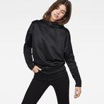 G-Star RAW® Motac-X Oversized Hooded Sweater Black model front