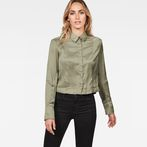 G-Star RAW® Vodan Dc Cropped Open Back Shirt Green