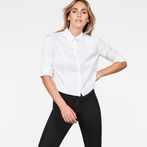 G-Star RAW® Vodan Dc Cropped Open Back Shirt White