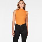 G-Star RAW® Deline Slim Funnel Sleeveless T-Shirt Orange model front