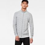 G-Star RAW® Suzaki  Moto Zip Through Knit Grey model front