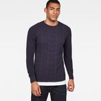 G-Star RAW® Suzaki Moto Knit Dark blue model front