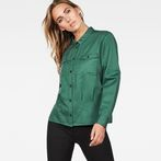 G-Star RAW® Rovic Pleated Shirt Green