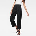 G-Star RAW® Bristum Pleated Wide Leg Chino Black model front