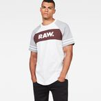 G-Star RAW® Beatal Loose Raglan T-Shirt White model front