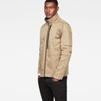 G-Star RAW® Rackam Utility Tone-Mix Overshirt Green model front