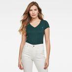 G-Star RAW® Eyben Slim V-Neck T-Shirt Green model front