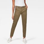 G-Star RAW® Bronson Mid Skinny Chino Green model front