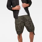 G-Star RAW® Rovic Zip Loose 1/2-Length Shorts Grey model front