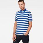 White/Hudson Blue Stripe