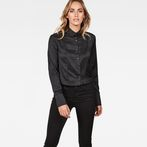 G-Star RAW® Vodan Dc Cropped Open Back Shirt Black