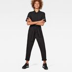 G-Star RAW® Bristum Deconstructed Jumpsuit Black model front