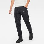 G-Star RAW® Rovic Zip 3D Straight Tapered Pants Black model front
