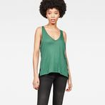 G-Star RAW® Dyv Pocket Straight Deep V-Neck Singlet Green model front