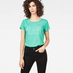 G-Star RAW® Cirst Straight T-Shirt Green model front