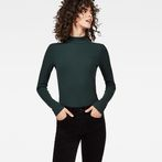 G-Star RAW® Xinva Slim Funnel T-Shirt Green model front