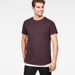 G-Star RAW® Starkon Stripe T-Shirt Purple model front