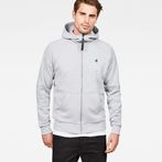 G-Star RAW® Strett Dc Hooded Zip Thru Sweat Grey model front