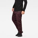 G-Star RAW® Rovic Zip 3D Straight Tapered Pants Purple model front