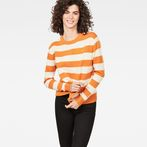 G-Star RAW® Doolin Stripe Knit Orange model front