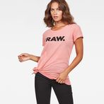 G-Star RAW® Rovi Knotted T-Shirt Pink model front