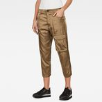 G-Star RAW® Boxxa 3D Mid waist Boyfriend Cargo Pants Green model front