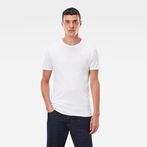 G-Star RAW® Base T-Shirt 2-Pack White model front