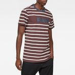 G-Star RAW® Mow Stripe T-Shirt Brown model front