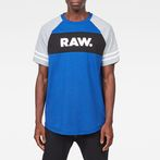 G-Star RAW® Beatal Loose Raglan T-Shirt Medium blue model front