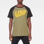 G-Star RAW® Buckston Raglan T-Shirt Green model front