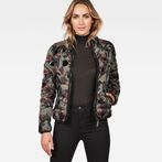 G-Star RAW® Strett Quilted Jacket Green model front