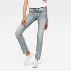G-Star RAW® Midge Mid Waist Straight Jeans Grey