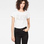 G-Star RAW® Cirst Straight T-Shirt White model front