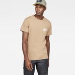 G-Star RAW® Graphic 5 Pocket T-Shirt Brown model front