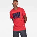 G-Star RAW® Graphic 8 Regular T-shirt Red model front
