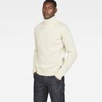 G-Star RAW® Core Turtle Knit White model front