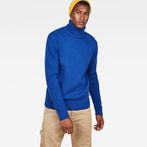 G-Star RAW® Core Turtle Knit Medium blue model front