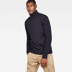 G-Star RAW® Core Turtle Knit Dark blue model front
