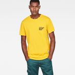 G-Star RAW® Graphic 5 Pocket T-Shirt Yellow model front